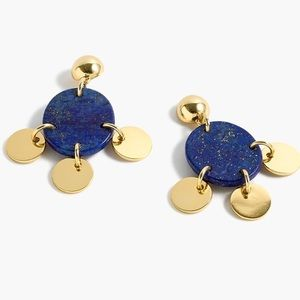 J. CREW Drop Stone and Disc Earrings